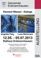 Kunstausstellung im Rathaus mit Angelika Flaig und Lucia Wichmann